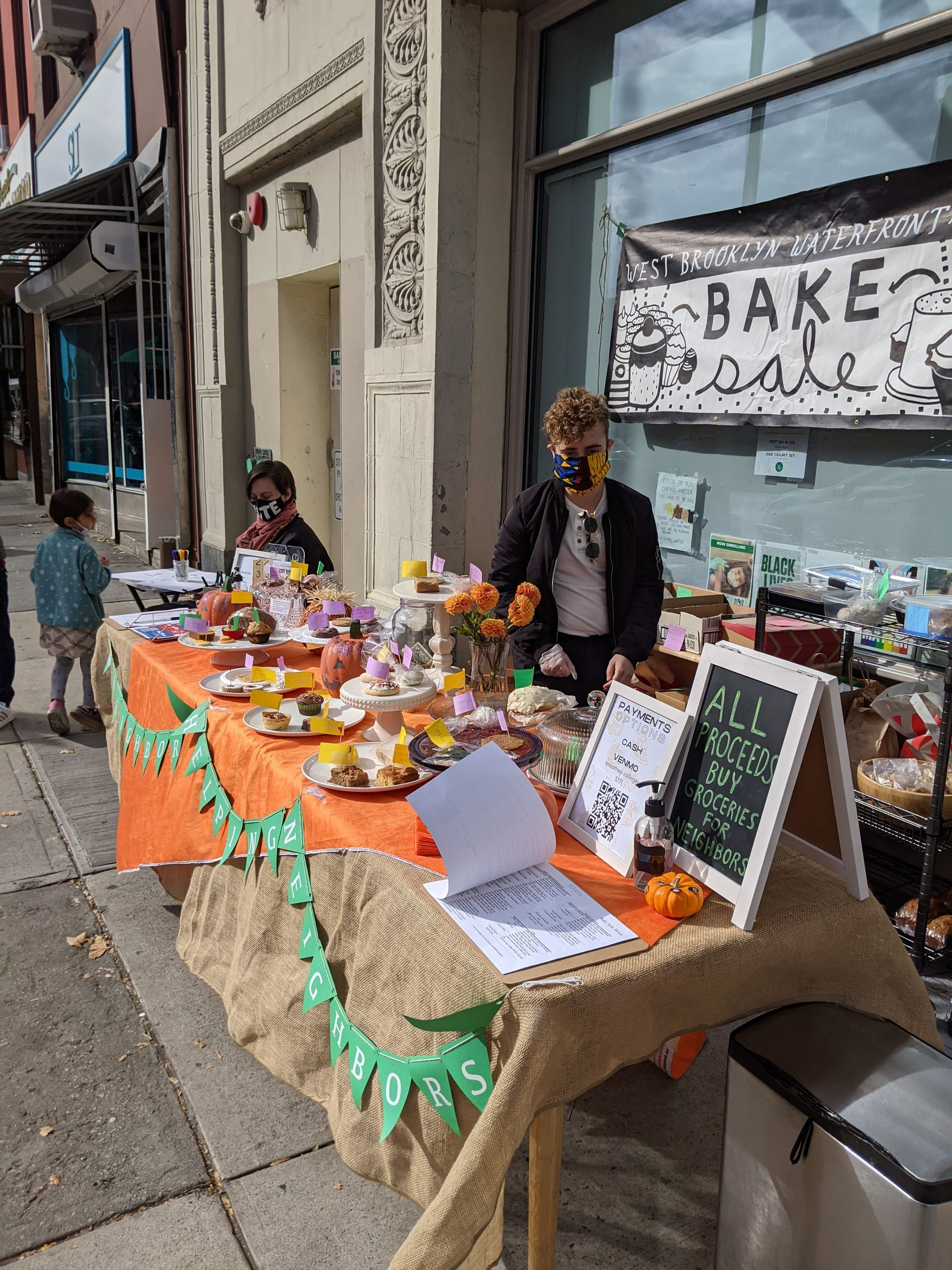 West Brooklyn Waterfront Mutual Aid's Charitable Bake Sale