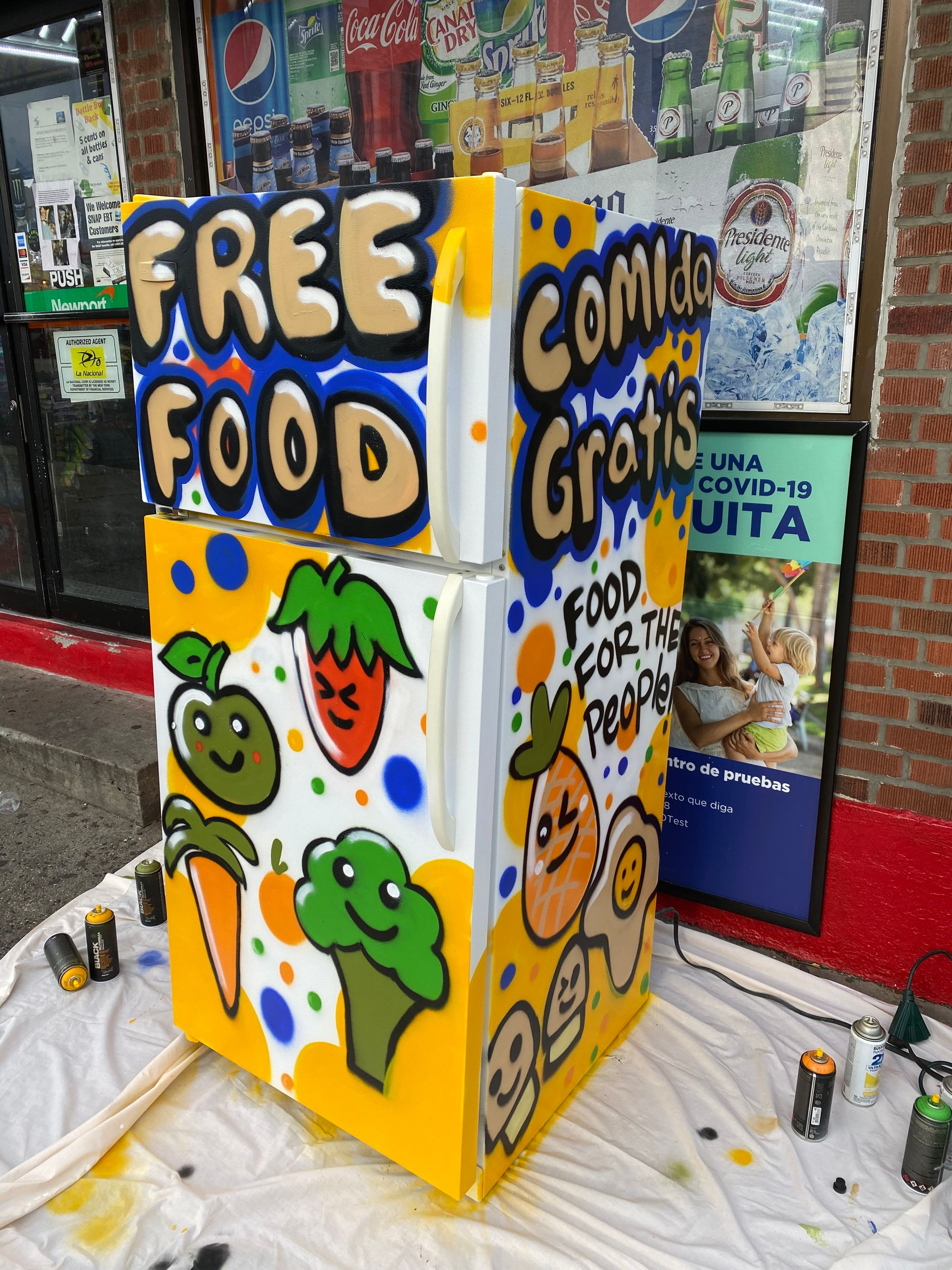 East Bronx Dems Mutual Aid Group's Community Fridge
