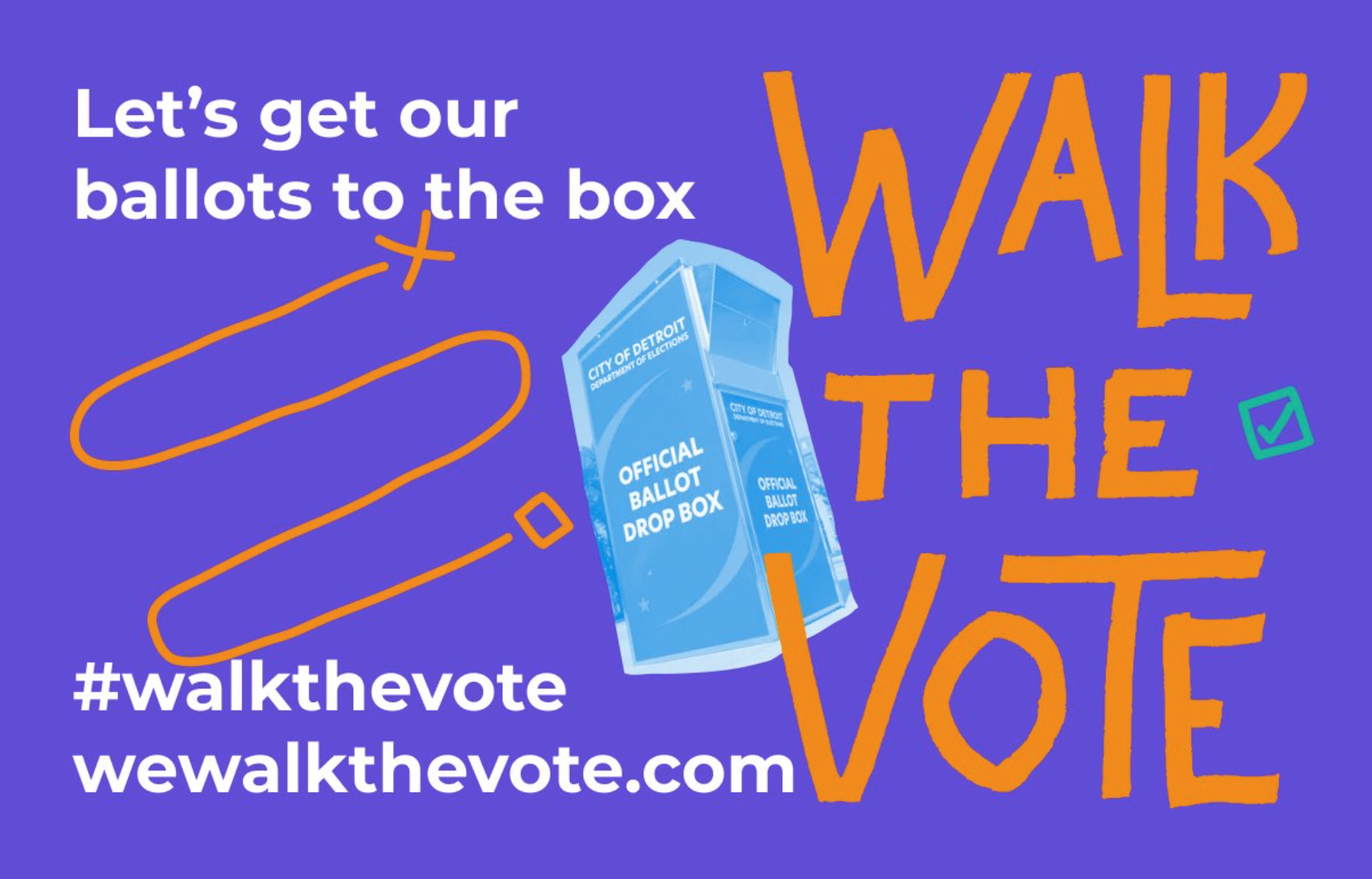 Need some fresh air? Take your vote with you and #walkthevote!