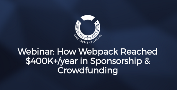 September 2017 News: Webpack Webinar, New Help Forum, Ads for OSS + more