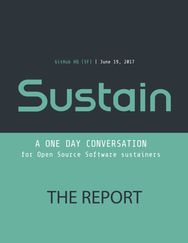 SustainOSS 2017: The Report